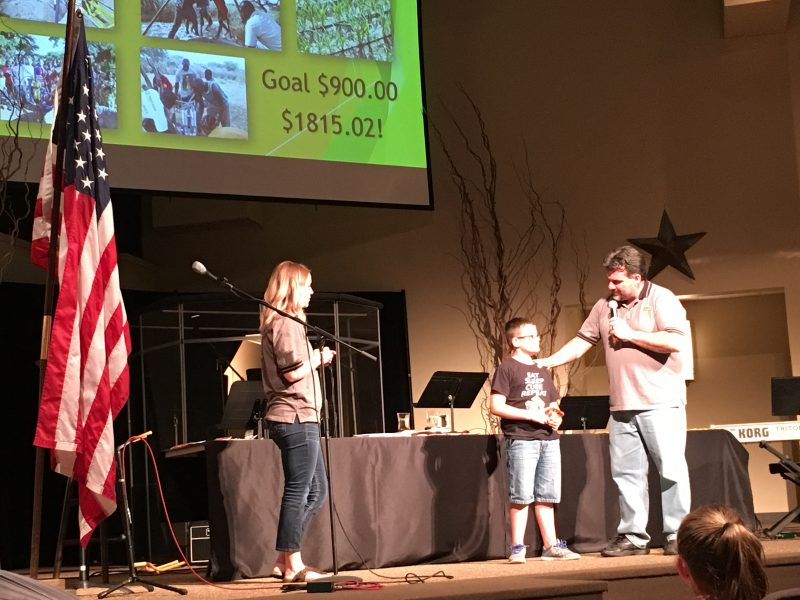 Quinn at the award ceremony
