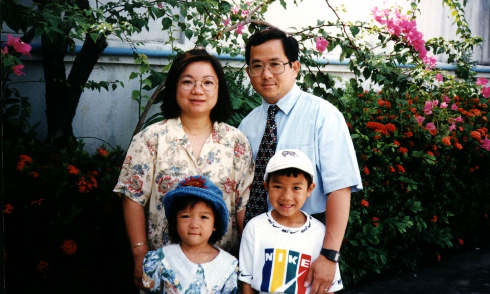 An's Family at the Alliance guesthouse in 1998
